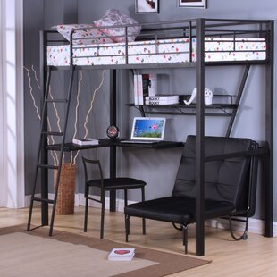 Loft Bed With Desk And Futon Wayfair