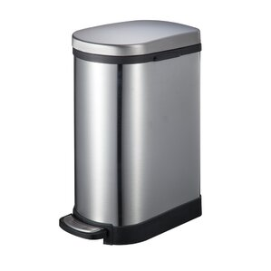 stainless steel 264 gallon step on trash can