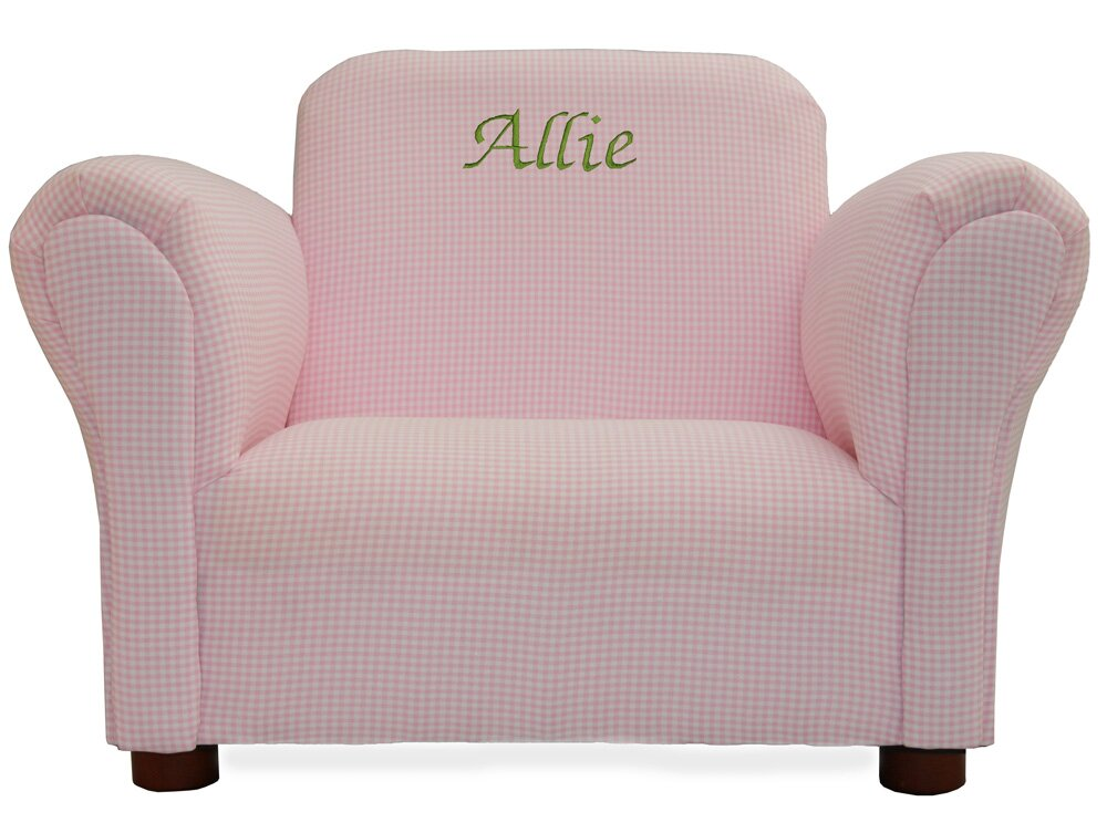 Personalized Kids Chairs Amp Sofas Bright Pink Heart