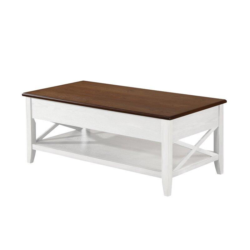 Farmhouse Lift Top Coffee Table.Atherton Farmhouse Faux Wood Lift Top Coffee Table