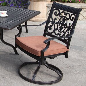 st cruz swivel dining arm chair with cushion - Swivel Patio Chairs