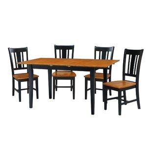 Kelm 5 Piece Extension Drop Leaf Solid Wood Dining Set