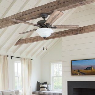 living room ceiling fan two story 42 rustic ceiling fans youll love wayfair
