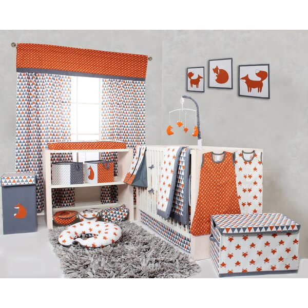- Bacati Playful Fox 10 Piece Crib Bedding Set & Reviews Wayfair