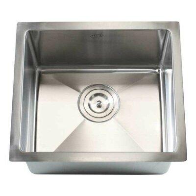 """Undermount Kitchen Single Sink emodern decor ariel 18"""" x 18"""" single bowl undermount kitchen sink"""