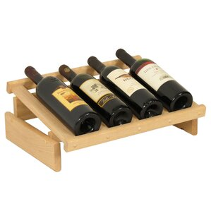 Dakota 4 Bottle Tabletop Wine Rack by Wooden Mallet
