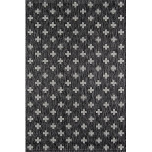 gray and white rug. Umbria Charcoal Indoor/Outdoor Area Rug Gray And White