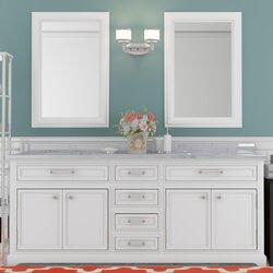 "Bathroom Vanity Hutch darby home co colchester 72"" double sink bathroom vanity set"