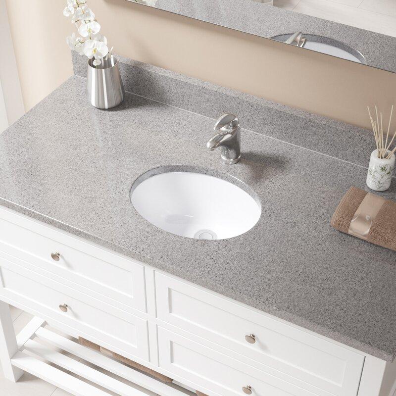Calypso 19-Inch Oval Undermount Bathroom Sink   Native Trails throughout Oval  Bathroom Sinks