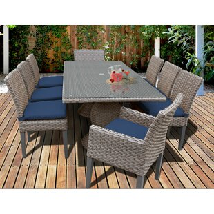 Oasis 9 Piece Dining Set With Cushions