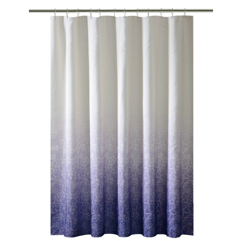 Bath Bliss Lace Printed Ombre Shower Curtain & Reviews | Wayfair