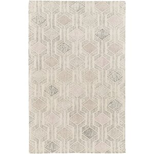 Madero Hand-Tufted Ivory/Gray Area Rug