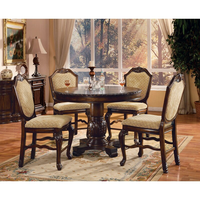 Astoria Grand Mcclelland 5 Piece Counter Height Dining Table Set