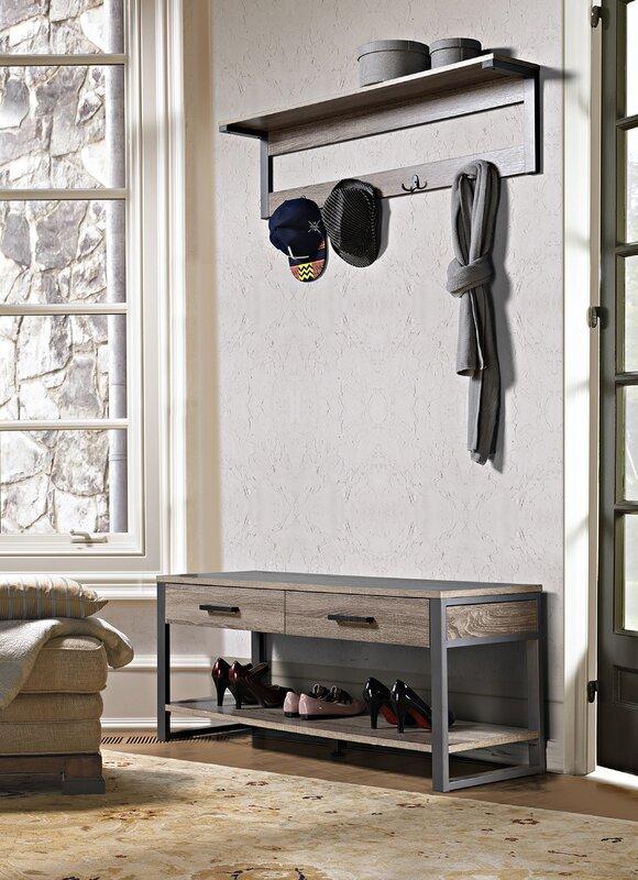 Orren Ellis Arsdale Wood Storage Bench Amp Reviews Wayfair