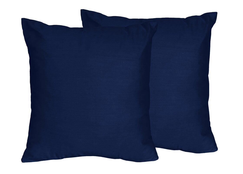 Sweet Jojo Designs Chevron Solid Navy Blue Throw Pillows
