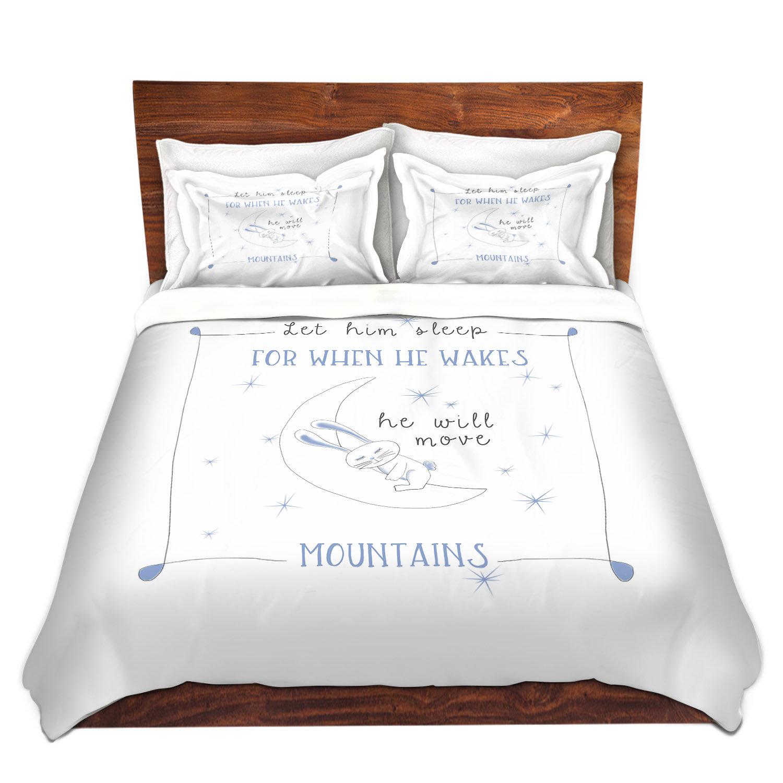 6499174d Harriet Bee Alfonzo Zara Martina Let Him Sleep Blue Microfiber Duvet Covers  | Wayfair