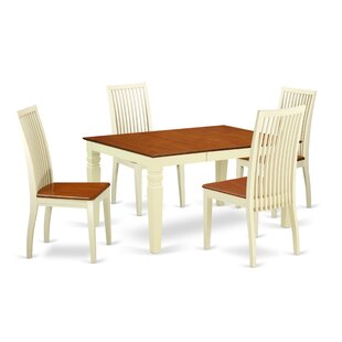 Belcourt 5 Piece Solid Wood Dining Set