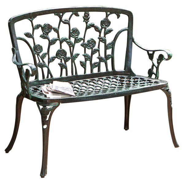 metal patio benches youll love wayfair - Patio Benches