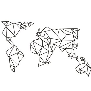 World Map Metal Wall Decor | Wayfair