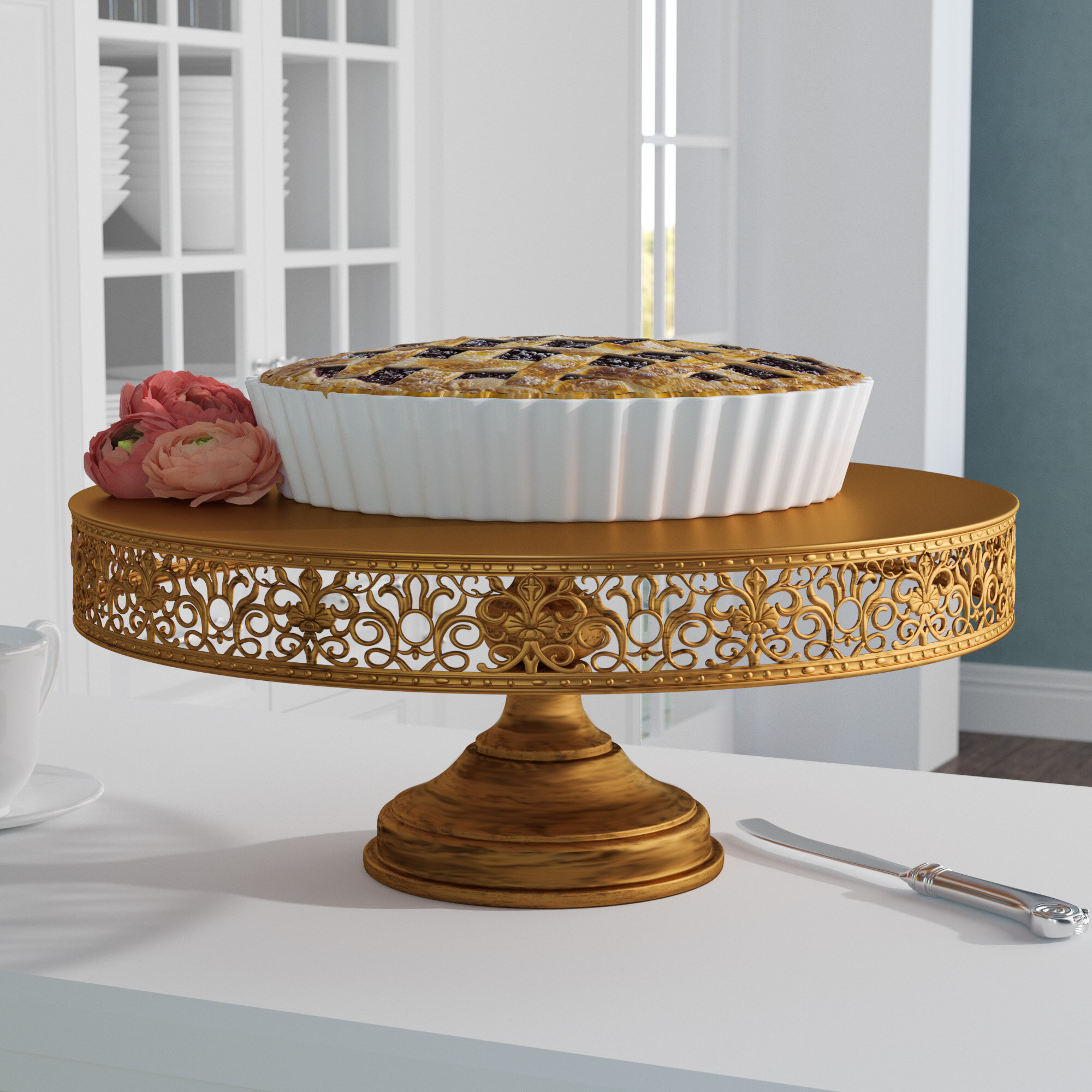 Rosdorf Park Davida 16 Metal Cake Stand Reviews Wayfair