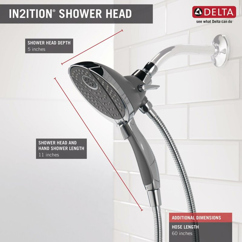 Delta Universal Showering Components 2.5 GPM Shower Head & Reviews ...
