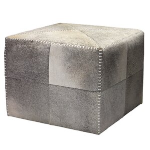 Cross Stitch Leather Ottoman by Jamie Young Company