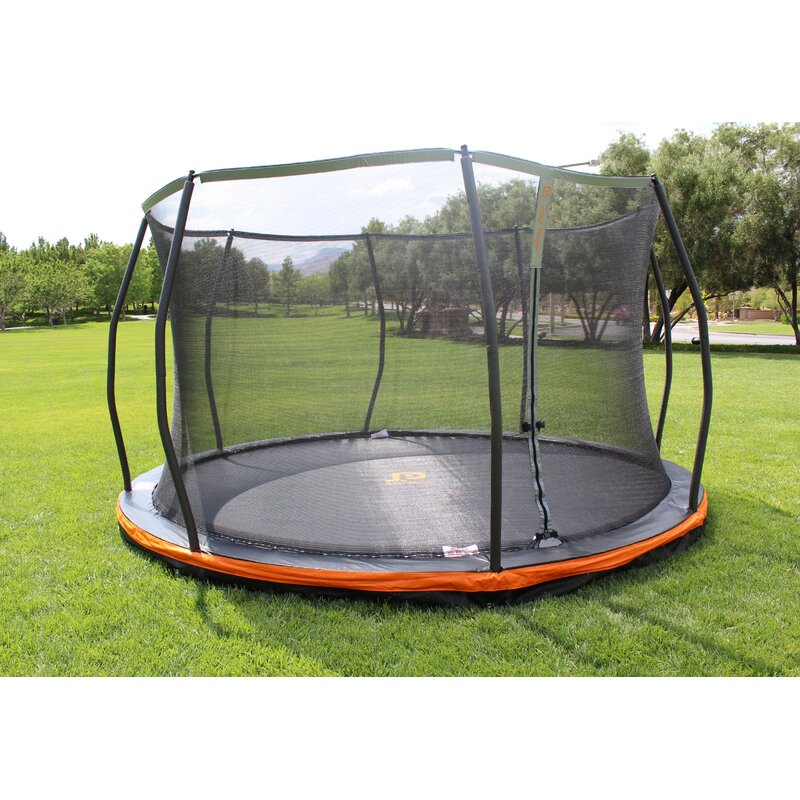 JumpPower In-Ground 13' Round Trampoline With Safety