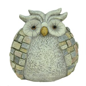 Stone Inspired Owl Outdoor Patio Garden Statue