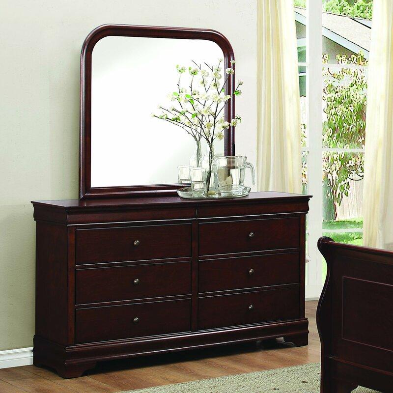 Abbeville 6 Drawer Dresser With Mirror