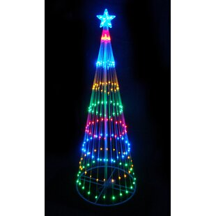 xmas lighting decorations exterior decorative led light show cone christmas tree lighted display outdoor decorations youll love wayfair