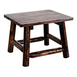 Char-Log Square End Table ..