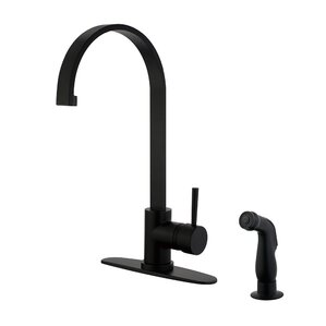 Kingston Brass Gourmetier Centerset Single Handle Kitchen Faucet with Side Sprayer