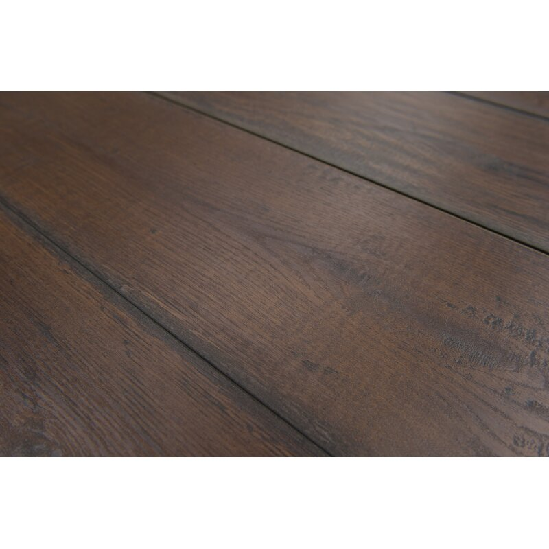 Geneva 9 X 48 12mm Oak Laminate Flooring In Dark Brown