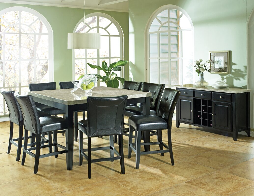 Chloe 9 Piece Counter Height Dining Set
