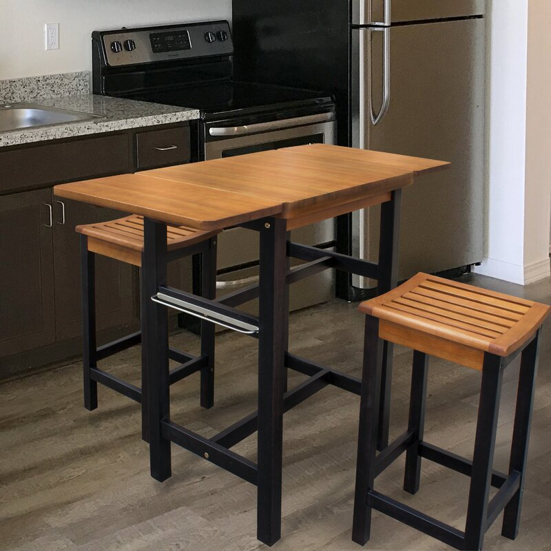 Modern Kitchen Bar Stools Kitchen Islands With Table: Red Barrel Studio Jeanetta 3 Piece Table Stool Kitchen