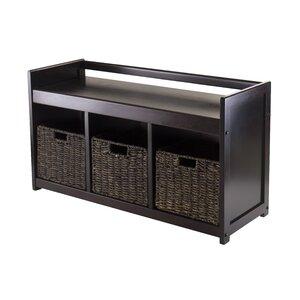 Vickers 4 Piece Wood Storage Bench