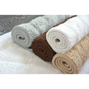Ruby Super Soft Hand Tufted Natural Cotton Bath Rugs (Set Of 2)
