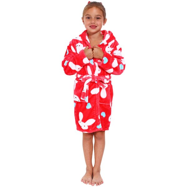 Zoomie Kids Geurie Children s Bunny Print Terry Cloth Bathrobe  0c9d47983