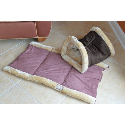 2 In 1 Cat Bed And Mat Armarkat Color: Mocha And Beige
