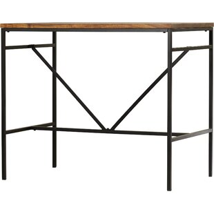 Modern distressed finish bar tables sets allmodern cortaro pub table watchthetrailerfo