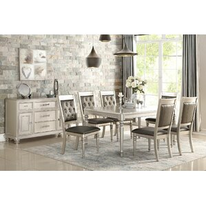 Blumer Silver 7 Piece Dining Set by Rosdorf Park
