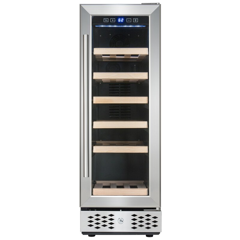 AKDY 18 Bottle Compressor Adjustable Single Zone Built-in/Freestanding Wine Cooler
