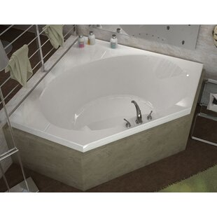 St Barts 60 X Corner Air Jetted Bathtub With Center Drain