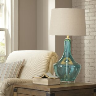 blue glass lamp. Gracemont Glass Table Lamp Blue