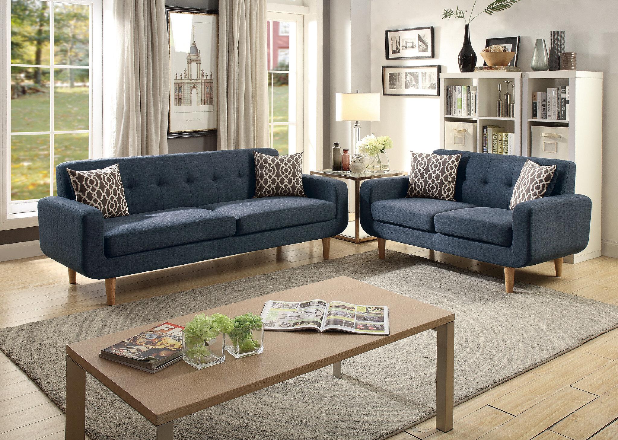 Langley street donte dorris fabric 2 piece living room set reviews wayfair