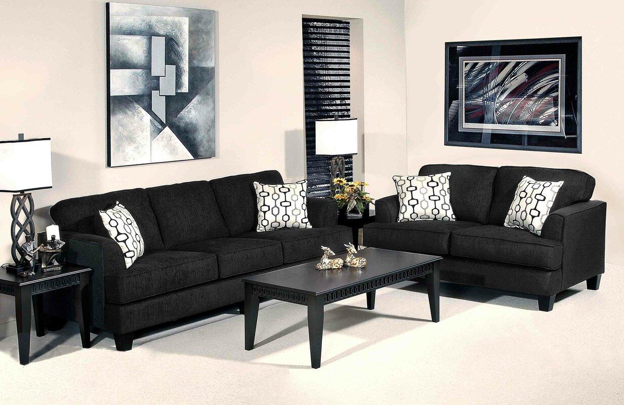 inv loveseat piece black sofa living room livings sierra savvy by jefferson pc set grey delta