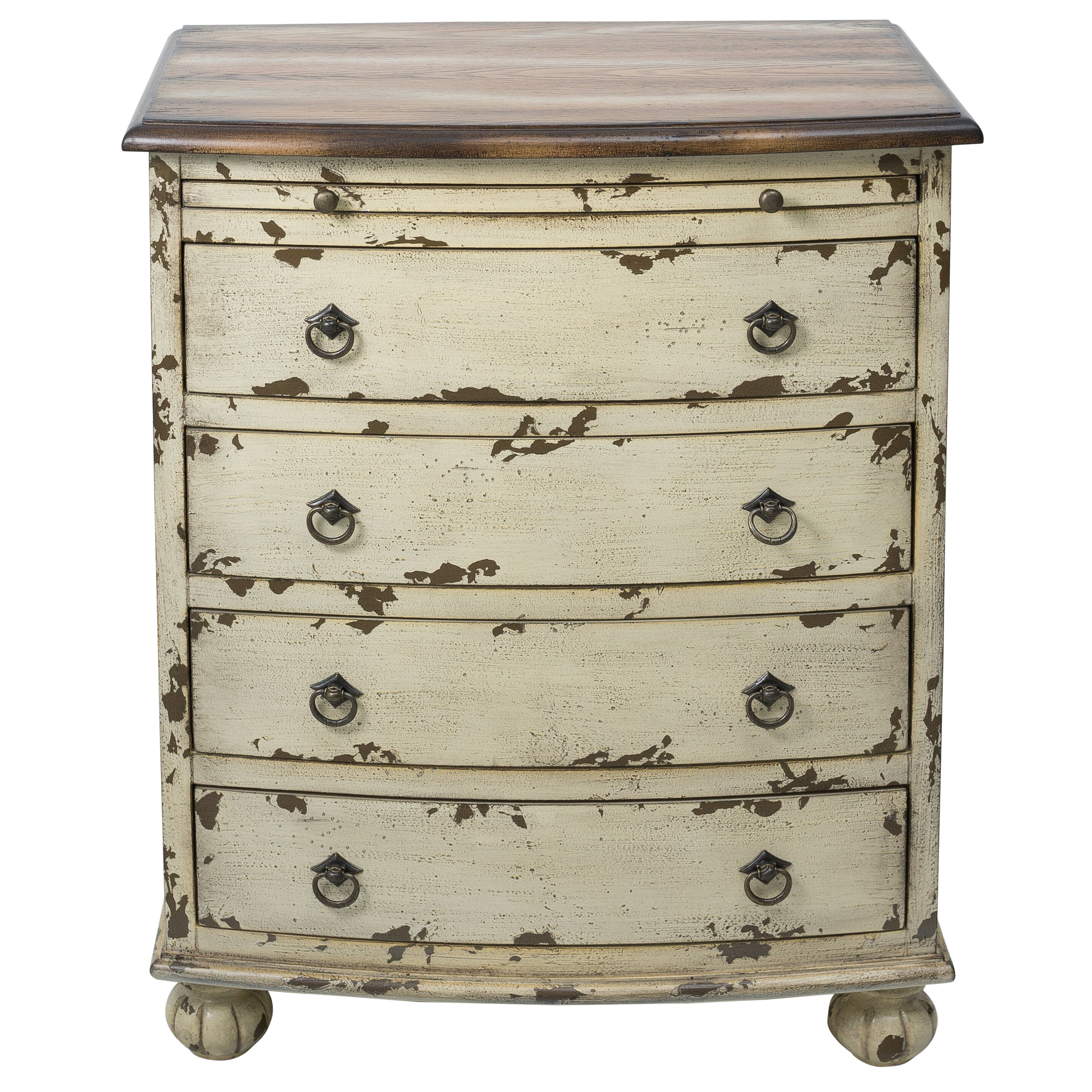 August Grove Lauier Distressed Two Tone 4 Drawer Accent Chest Reviews Wayfair