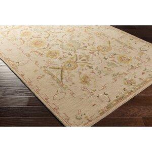 Ivan Hand-Tufted Oriental Taupe Wool Area Rug