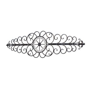 Wrought Iron Scroll Horizontal Wall Decor
