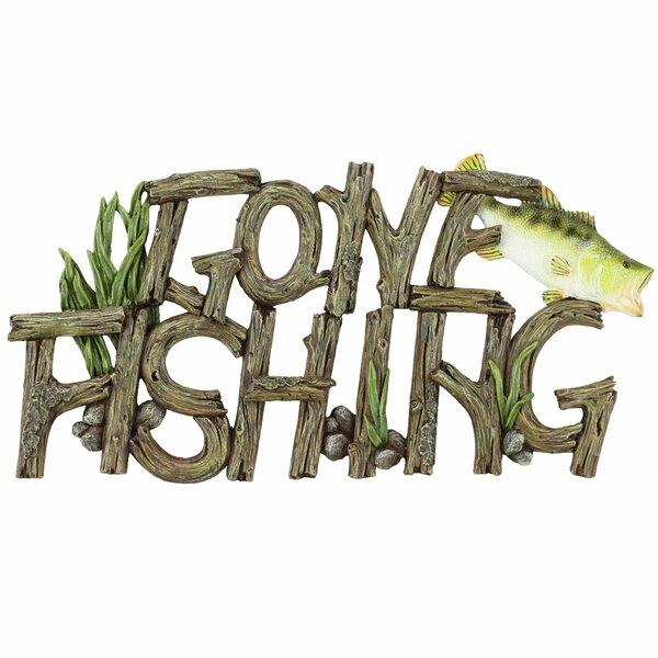 Gone Fishing Sign Wayfair Interesting Gone Fishing Signs Decor